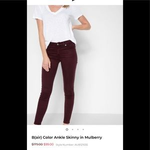 7 FOR ALL MANKIND SKINNY IN MULBERRY